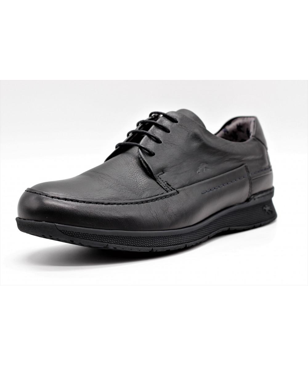 Fluchos Confortable Hommes En Cuir 9820 Chaussure Noir Pour Très Tauro HSrwS0qgaP