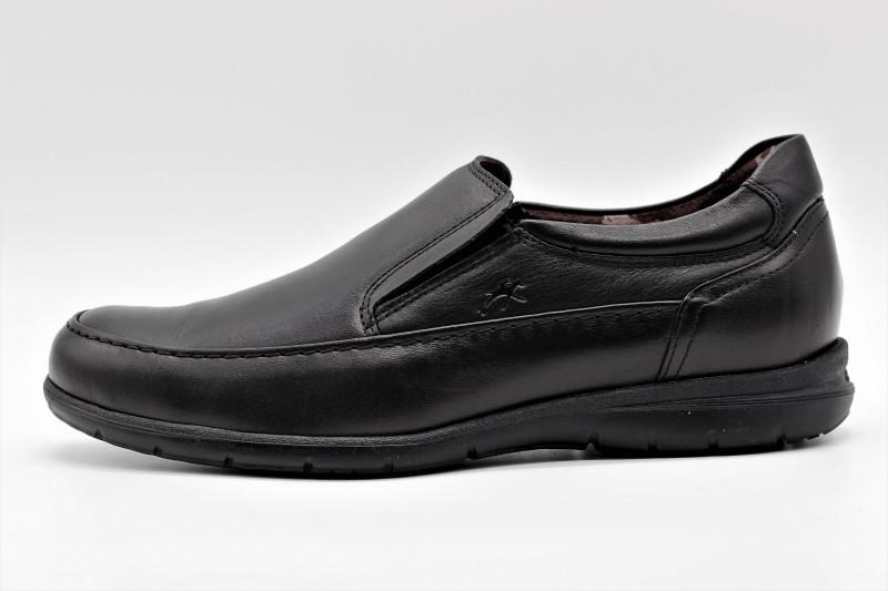 8c8e88e5 FLUCHOS 8499 LUCA mocassin confortable en cuir noir pour hommes