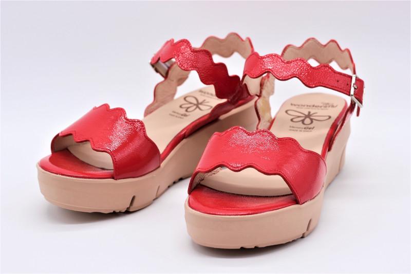 Sandale Rouge Wonders En Cuir Vernis 8213 3RL5Aj4
