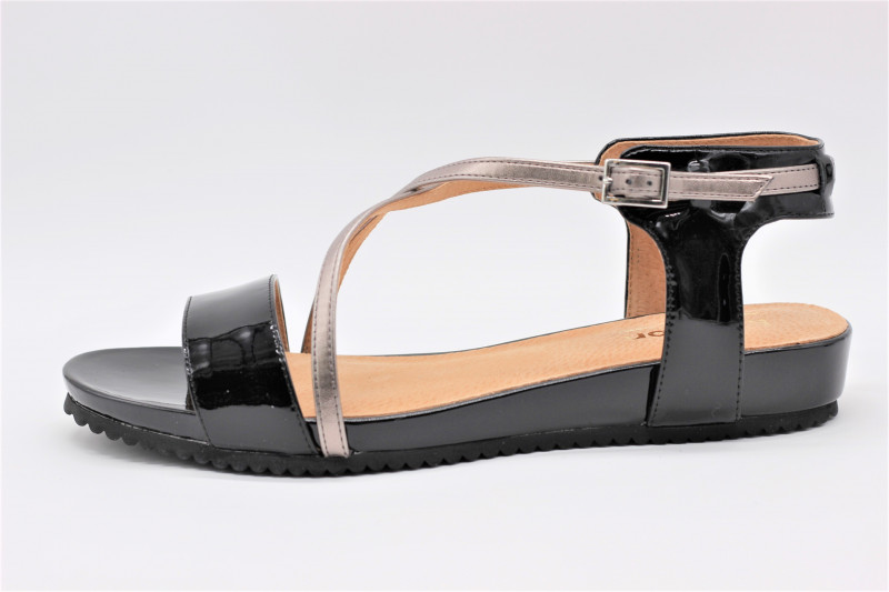 En Plate Sandale Vernis Vigfy76by Cuir Emax Noir Karston dsrhQCtx