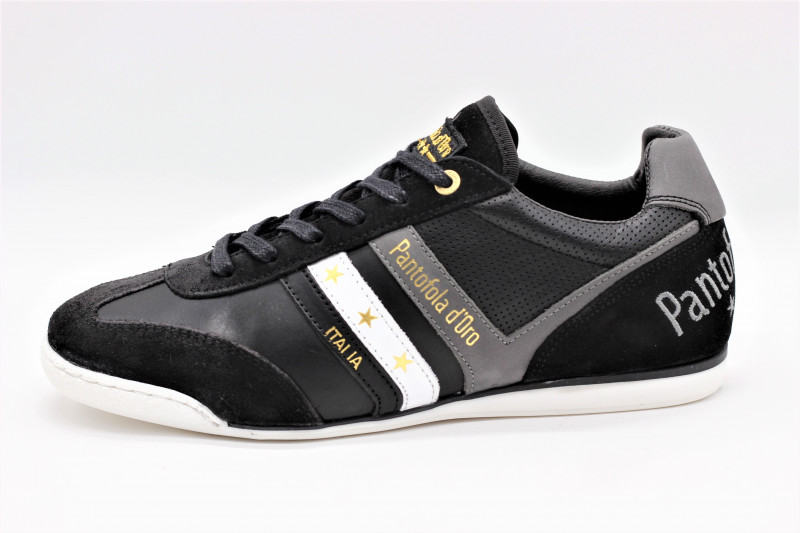 MEN/'S Pantofola d/'Oro Vasto Uomo Noir//Bleu Baskets Chaussures Neuf Dans
